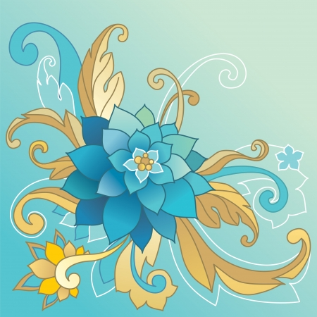 creative template with floral ornate motif