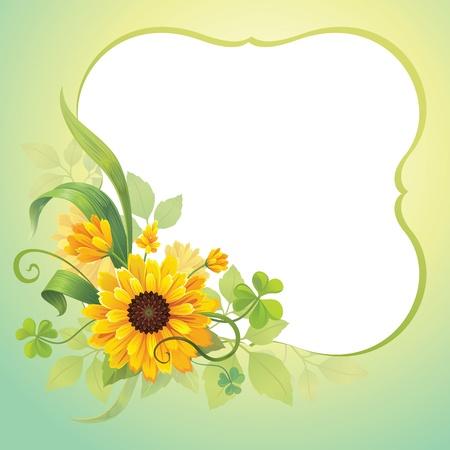 flower frame template