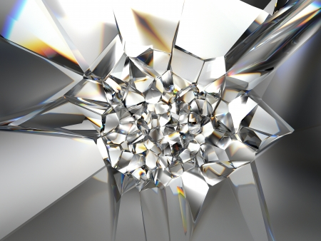 3d abstract crystal background texture