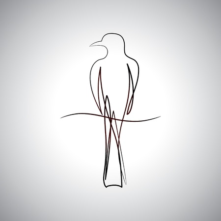 Bird drawing logo