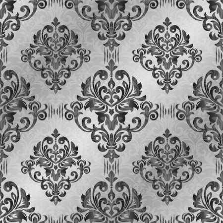 Illustration pour Damask seamless pattern for design. Vector Illustration - image libre de droit