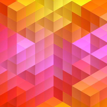 Illustration pour colored cubes. layout for the presentation. mosaic style, eps 10 - image libre de droit