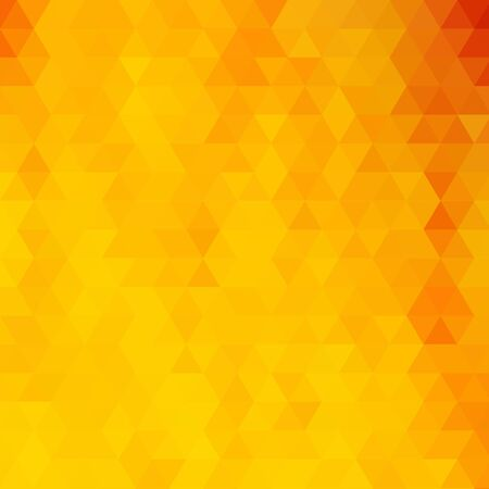 Illustration for Bright yellow triangular background. abstract vector illustration. eps 10 - Royalty Free Image