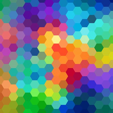 Illustration for Abstract Hexagon Colorful Background. Vector. eps 10 - Royalty Free Image