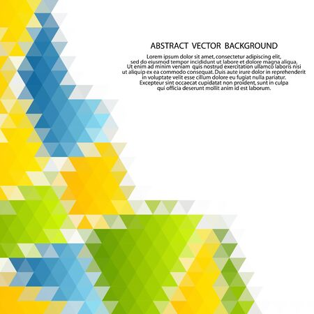 Illustration for Vector of modern abstract color triangular background. - Royalty Free Image