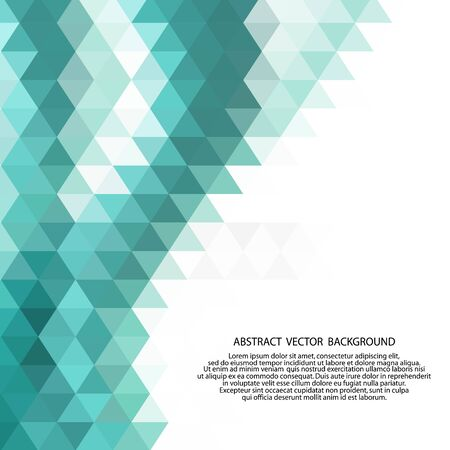 Illustration for Abstract low poly background of triangles in blue colors. - Royalty Free Image