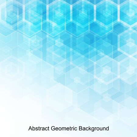 Illustration for Abstract blue hexagons. Background for presentation. template for advertising. polygonal style - Royalty Free Image