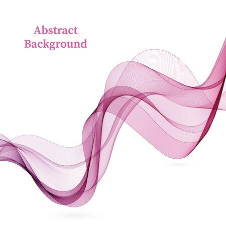 Ilustración de Purple wavy transparent lines. Background wave - Imagen libre de derechos