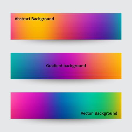 Illustration pour Abstract pink, teal, purple and green blur color gradient backgrounds for web, presentations and prints. Vector illustration. - image libre de droit