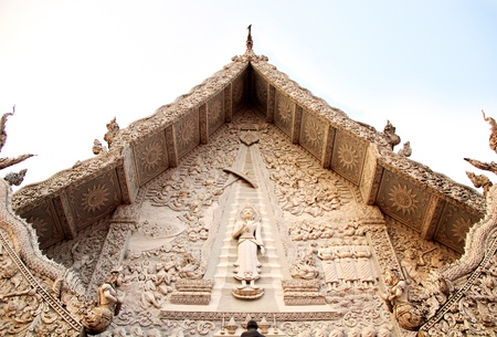 Stucco at Wat Ming Muang, Nan, Thailand