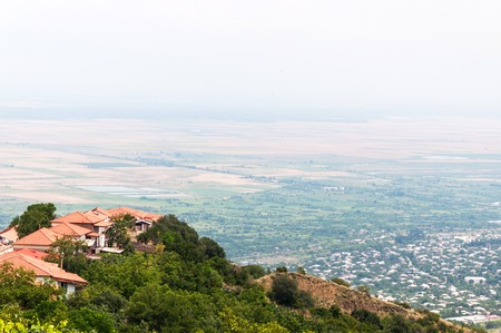 Panoramic view of the Alazani valley