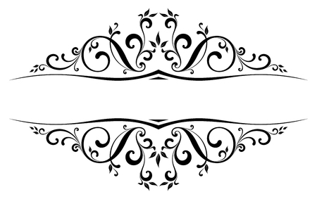 Illustration for Scroll Design with all separated elements. - Royalty Free Image