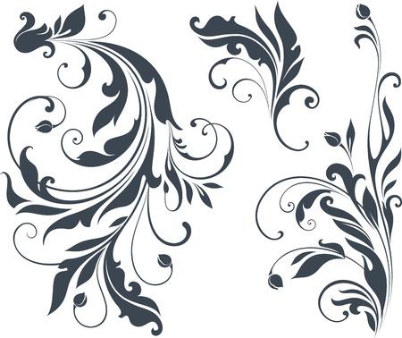 Illustration for Vector swirl ornate motifs. - Royalty Free Image