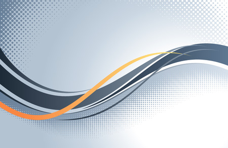 Photo for Abstract wavy vector background. - Royalty Free Image