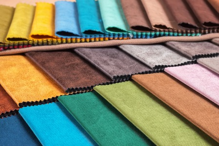 Photo pour Color samples of a upholstery fabric - image libre de droit