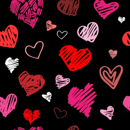 Abstract background, love heart seamless pattern