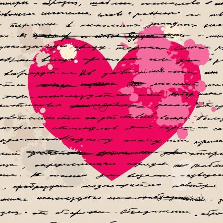 Heart design elements  Love  Handwriting  background
