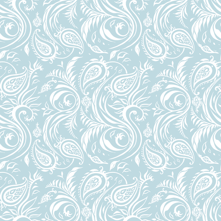Illustration for Paisley Hand Drawn pattern. Beautiful seamless background. Elegant vintage Pattern - Royalty Free Image