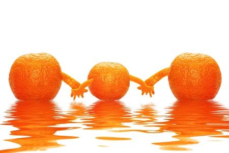 Foto per Tre mandarini salute per tutta la famiglia - Immagine Royalty Free