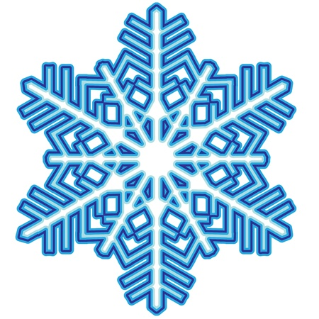 Decorative abstract snowflake