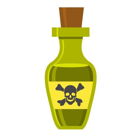 Vintage bottle with poison and skull on label