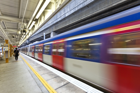 Abstract movement of train, blurred motion.