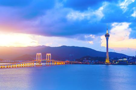 Macau at sunset