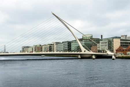 Dublin, Ireland, 24 October 2012: Samuel Beckett Bridge