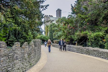 Dublin, Ireland, 25 October 2012: Malahide Castle Gardens Park