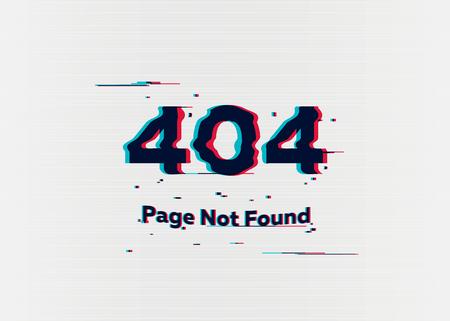 Ilustración de Error 404 page not found. Error with glitch effect on screen. Vector illustration for your design - Imagen libre de derechos