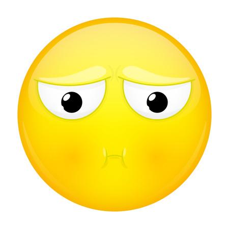 Sulk emoji. Bad emotion. Pout emoticon. illustration smile icon.