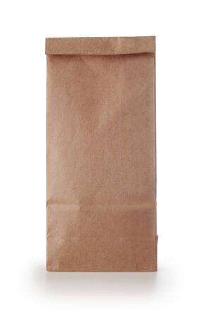 Foto für Kraft paper package isolated on white background. - Lizenzfreies Bild