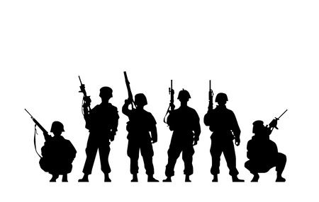 Illustration for Soldier Silhouette - Royalty Free Image