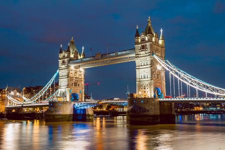 Foto für Illuminated Tower Bridge right after the sunset - Lizenzfreies Bild