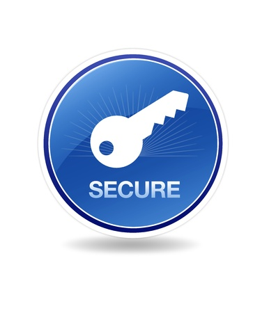 High resolution graphic of a secure icon with a key.