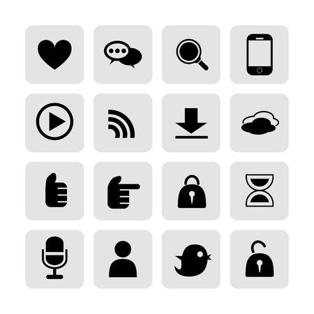 web, communication icons  internet vector set