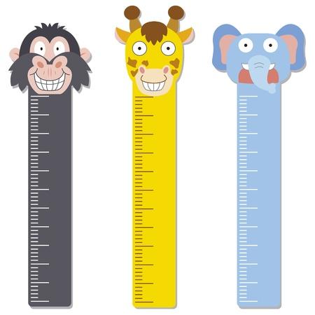 Illustration pour cute bumper children meter wall - image libre de droit