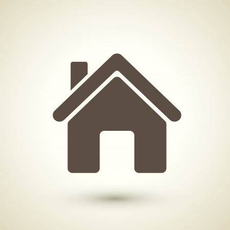 retro style home icon isolated on brown