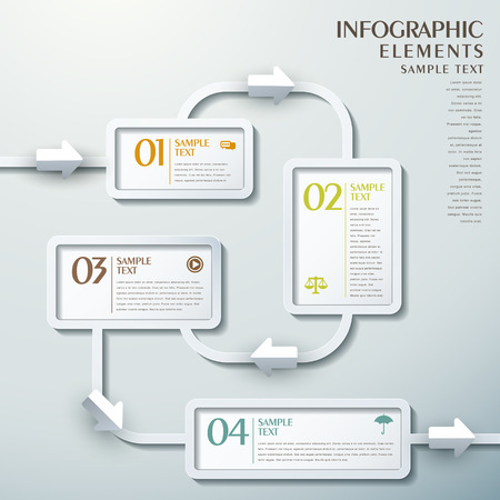 3d vector abstract flow chart infographic elements
