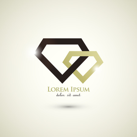 fashion diamond luxury concept abstract logo template