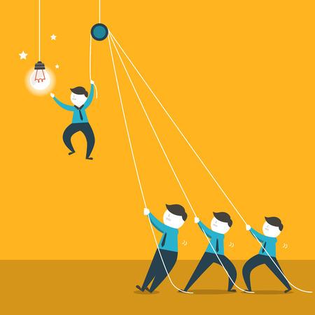 Ilustración de flat design vector illustration concept of team work - Imagen libre de derechos