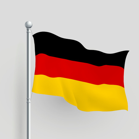 3d vector German flag blowing in a breeze