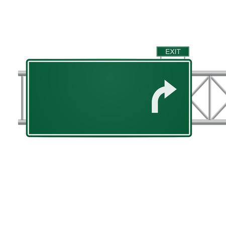 Ilustración de 3d blank highway sign isolated on white - Imagen libre de derechos