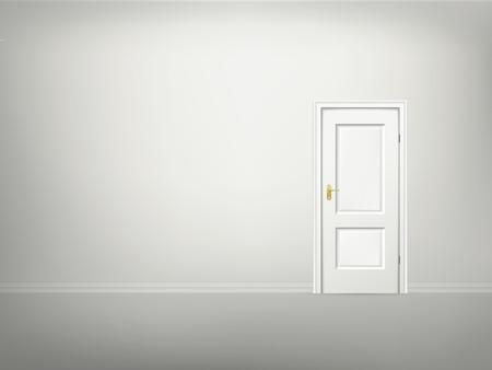 3d door and wall blank template