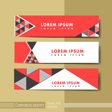 Illustration pour abstract modern geometric advertising banner in red and black - image libre de droit