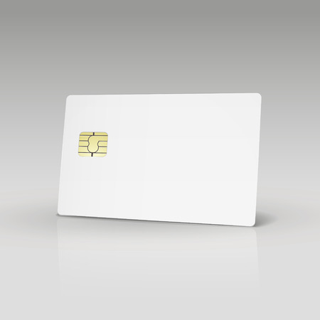 white credit card or phone card isolated on white background