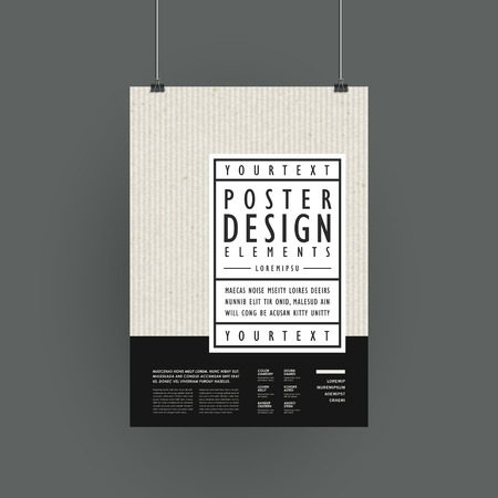 modern poster template design in simplicity style