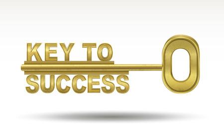Illustration pour key to success - golden key isolated on white background - image libre de droit