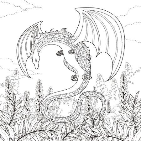 Fantasy Dragon Illustration