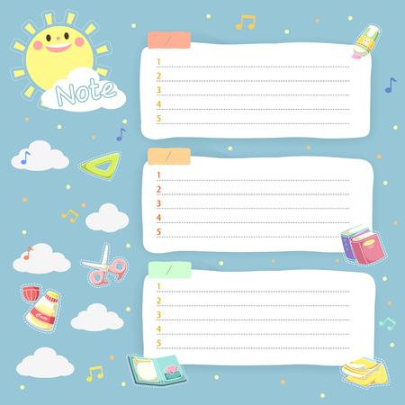 lovely plan schedule memos set for children